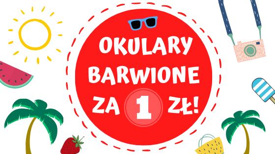 Okulary barwione za 1 zł