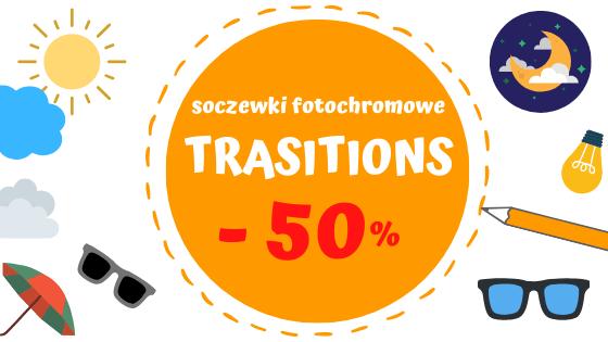Soczewki fotochromowe TRANSITIONS 50%