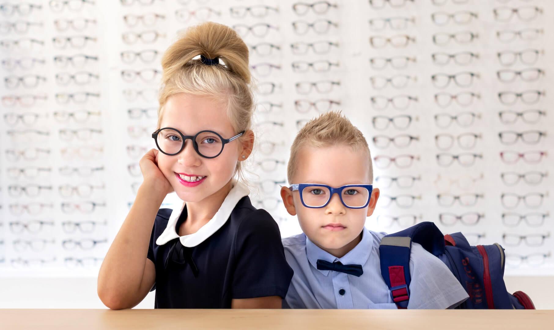 dzieci w okularach Hoya