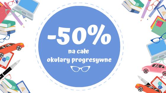50% zniżki na kompletne okulary progresywne Varilux